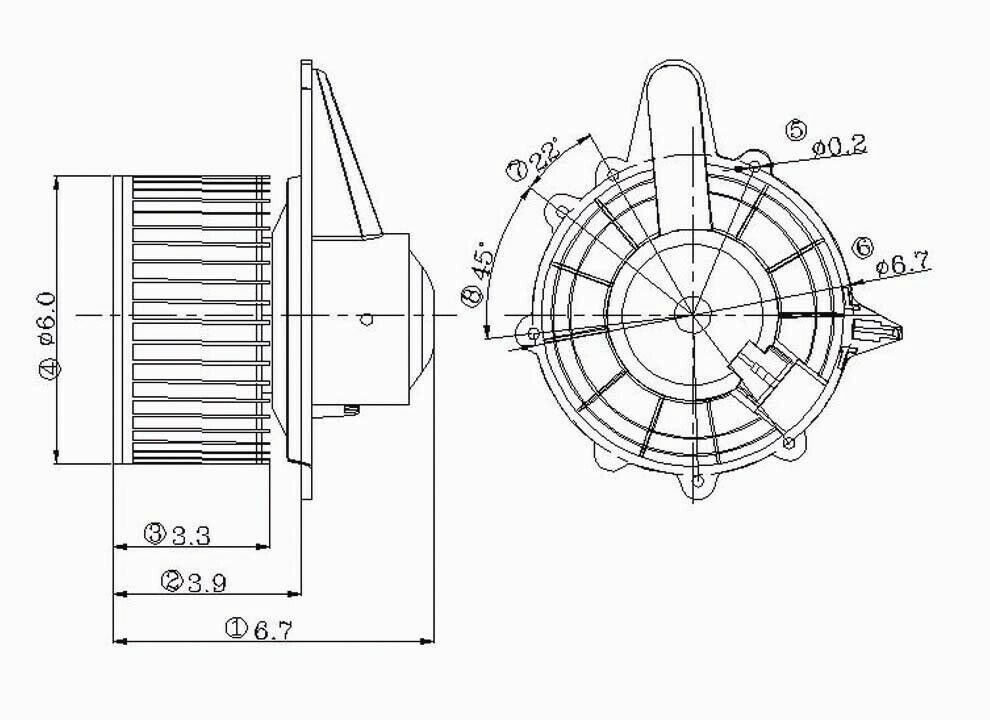 Hvac blower motor front tyc 700027 ebay for Air conditioning blower motor