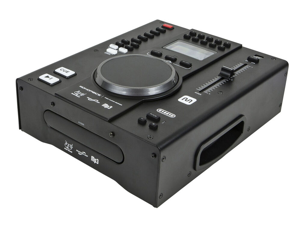 monoprice 614410 tabletop dj cd player with usb flash player and fx ebay. Black Bedroom Furniture Sets. Home Design Ideas