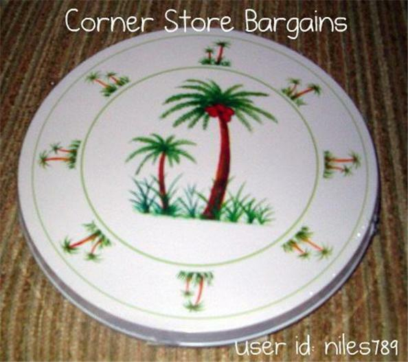 PALM TREE ROUND BURNER COVERS Stove Top Burner Covers