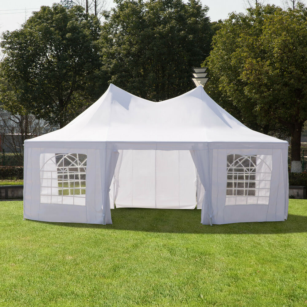 Outsunny 22 39 X 16 39 Large Octagon Outdoor Wedding Party