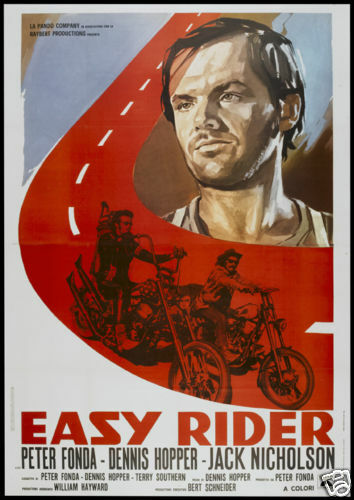 Easy rider Jack Nicholson cult biker movie poster print #2 | eBay Easy Rider Movie Poster