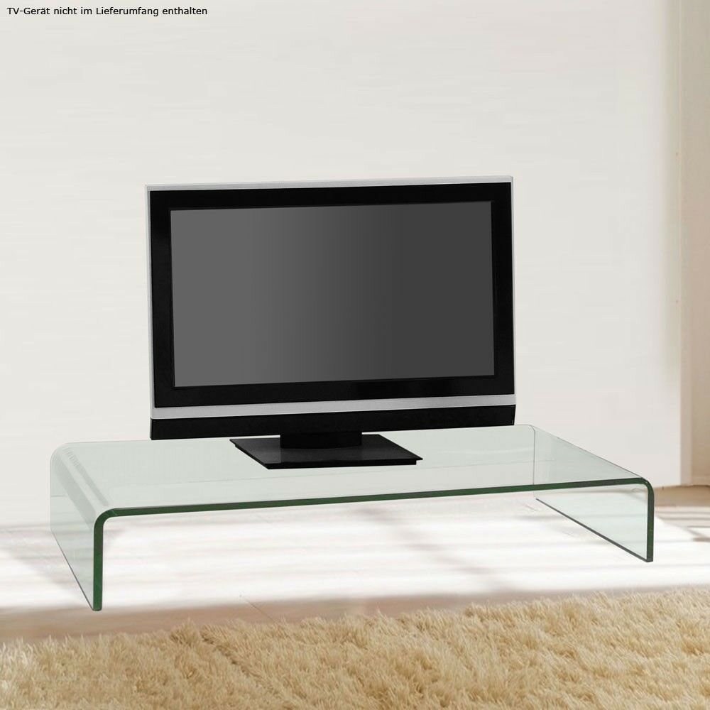 tv schrank glasaufsatz monitorerh hung glas glastisch 80 cm ablage unterschrank ebay. Black Bedroom Furniture Sets. Home Design Ideas