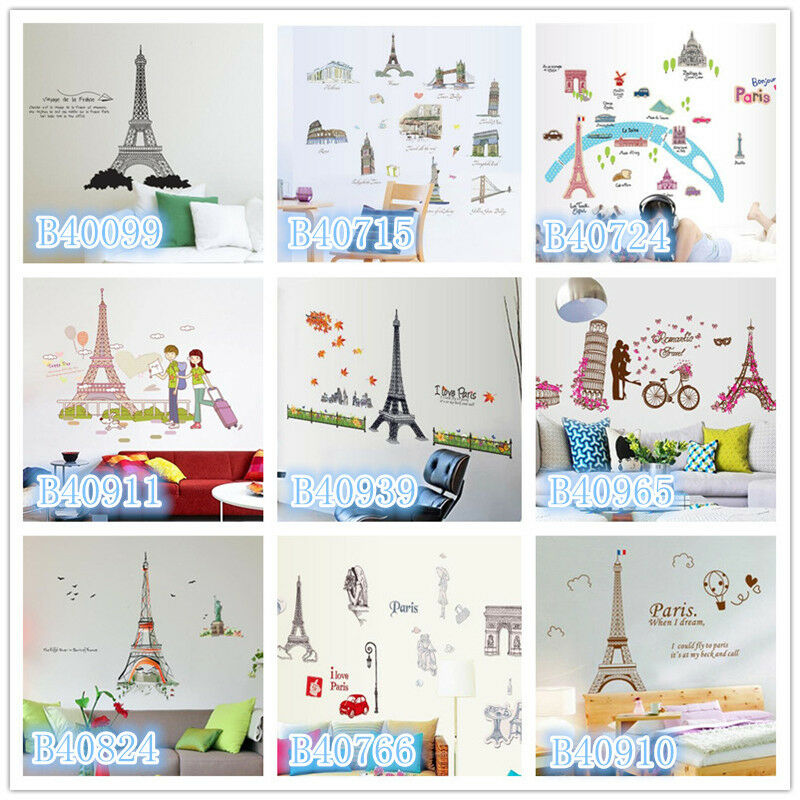 Http Www Ebay Com Itm Paris Eiffel Tower Scenery Home Decor Removable Wall Sticker Decal Decoration 391095031767