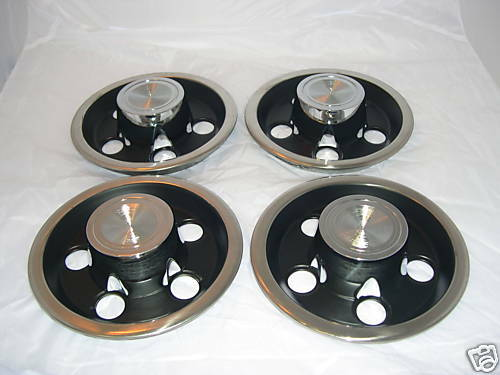 1966 68 Pontiac Rally I Wheel Center Cap Set Ebay