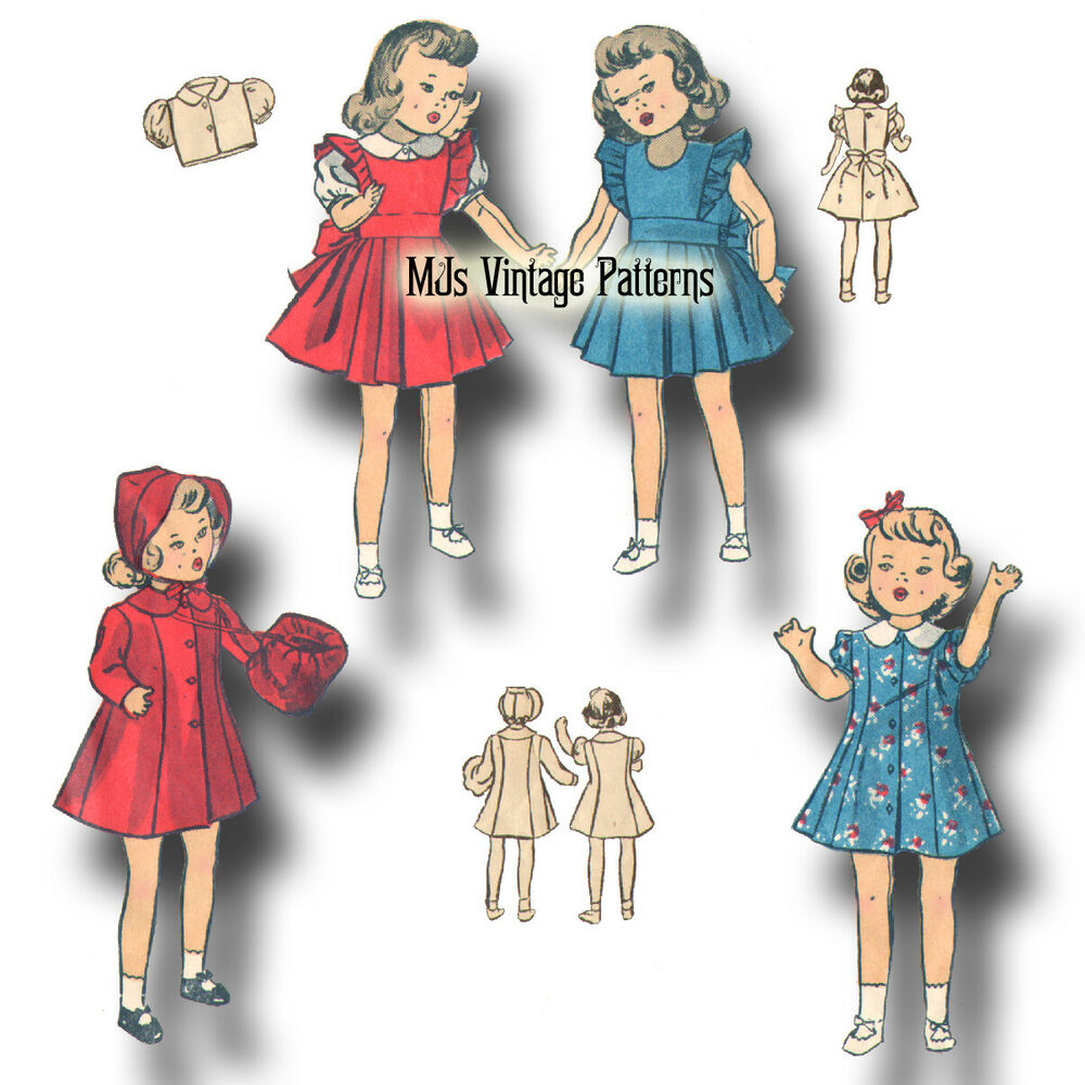 Vtg 1930s doll clothes pattern 11 quot 12 quot shirley temple patsykins