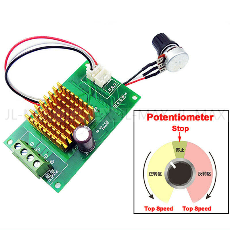 Dc motor speed controller dc 12v to 30v 6a with protection for Dc motor speed controllers