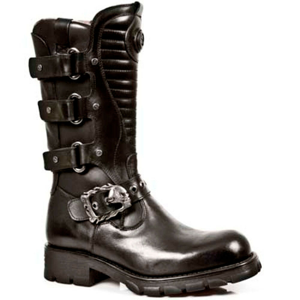25c0ab640007 New Rock Boots Mens Style 7604 S1 black