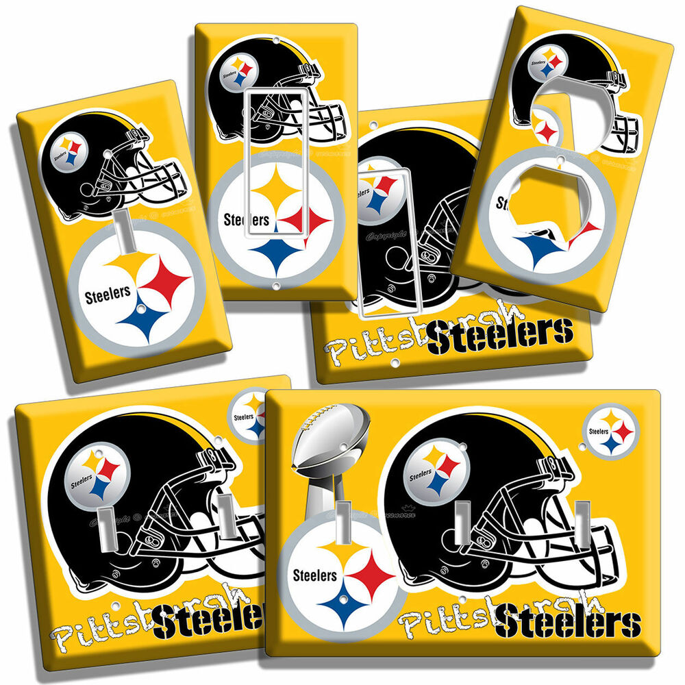 PITTSBURGH STEELERS NFL SUPER BOWL FOOTBALL LIGHT SWITCH OUTLET WALL ...