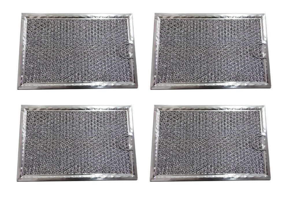 4 Pack Aluminum Mesh Microwave Grease Filter For
