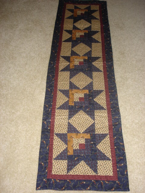 Quilting Patterns Instructions : LOG CABIN STAR*TABLE RUNNER QUILT PATTERN~INSTRUCTIONS ONLY~BY COUNTRY STITTCHES eBay
