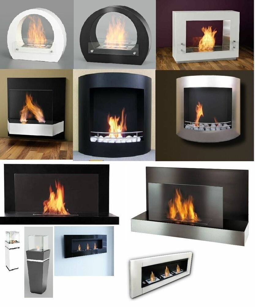 bio ethanol wall fireplace cheminee gel table ebay. Black Bedroom Furniture Sets. Home Design Ideas