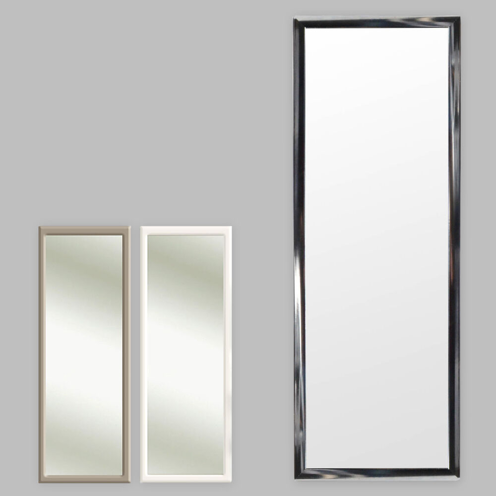 Colors Door Mirror Door mirror Hanging Mirror Frame 35x95cm black ...