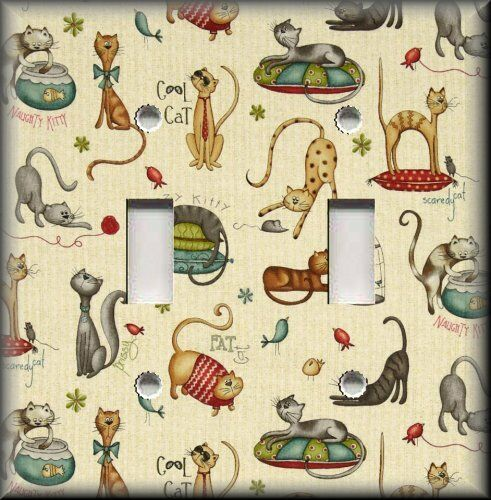 Cat Light Switch Plate Cover All Kinds Of Cats Cat