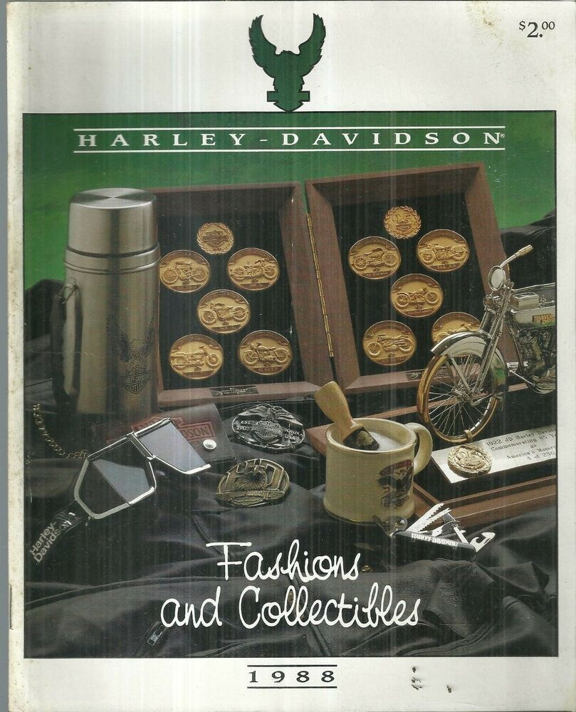 1988 harley davidson fashions and collectibles catalog motorcycle ebay. Black Bedroom Furniture Sets. Home Design Ideas