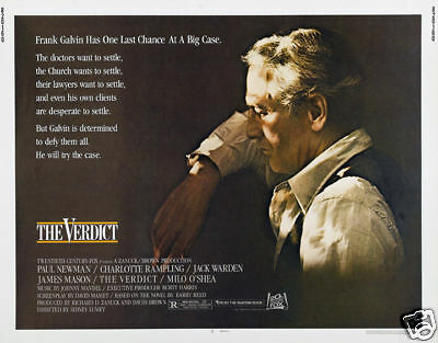the verdict paul newman cult movie poster print ebay
