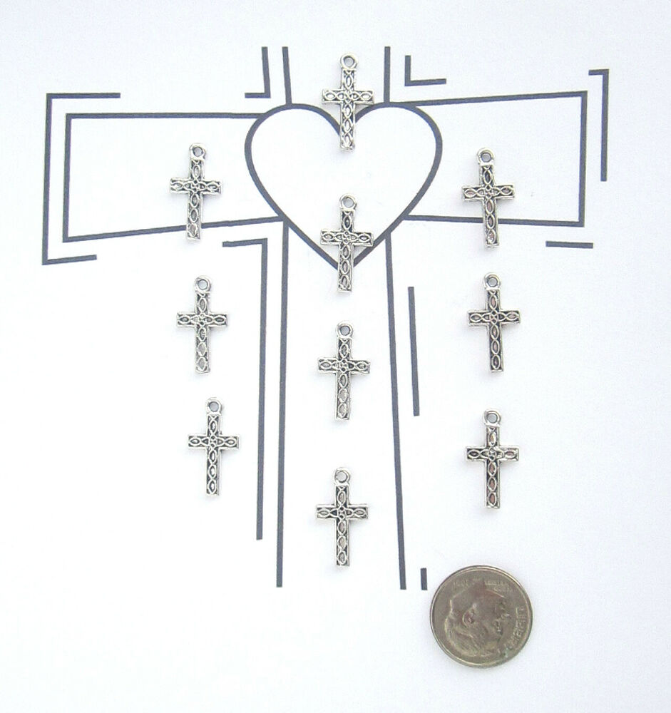 new 10 tibet silver quot religious cross quot charms pendants