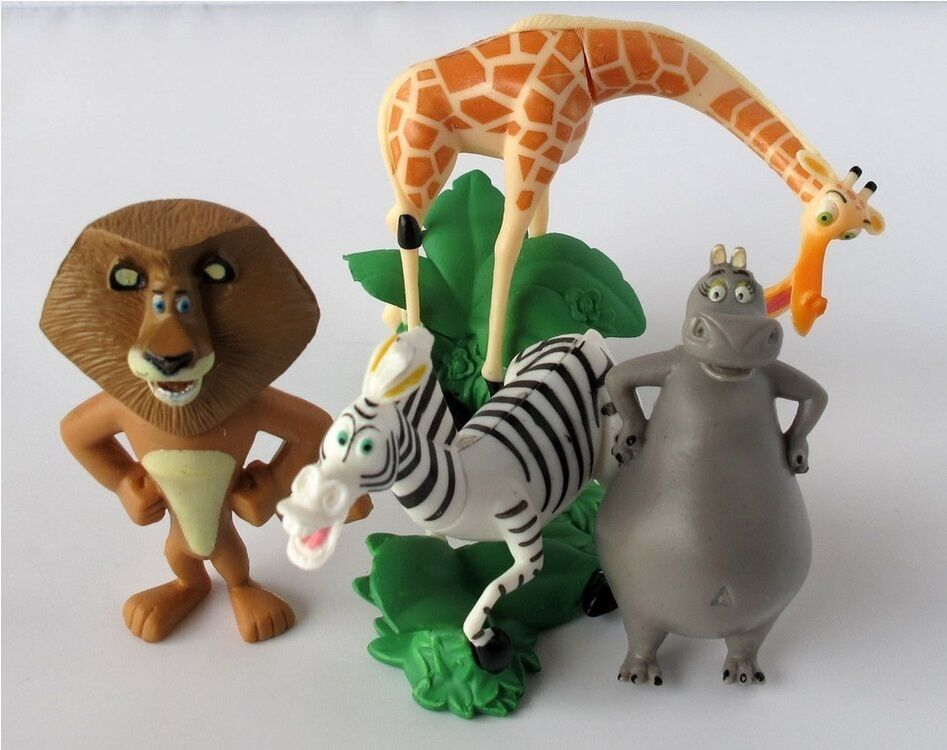 Madagascar Alex Marty Playset 4 Figure Cake Topper Usa