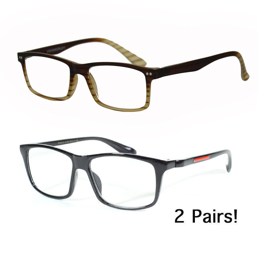 2 Pairs Designer Fashion Reading Glasses Women Men Optic ...