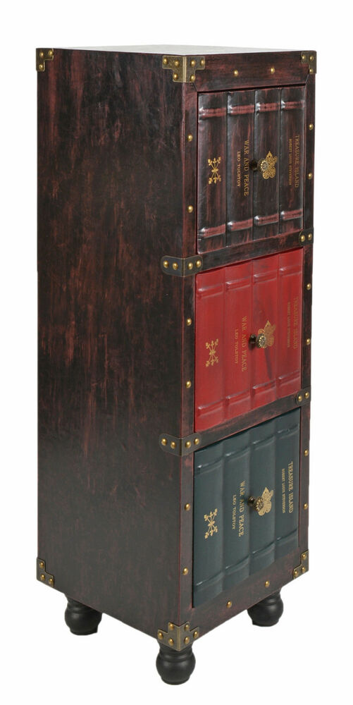kommode b cherregal schrank vintage antik buch design standregal british style ebay. Black Bedroom Furniture Sets. Home Design Ideas