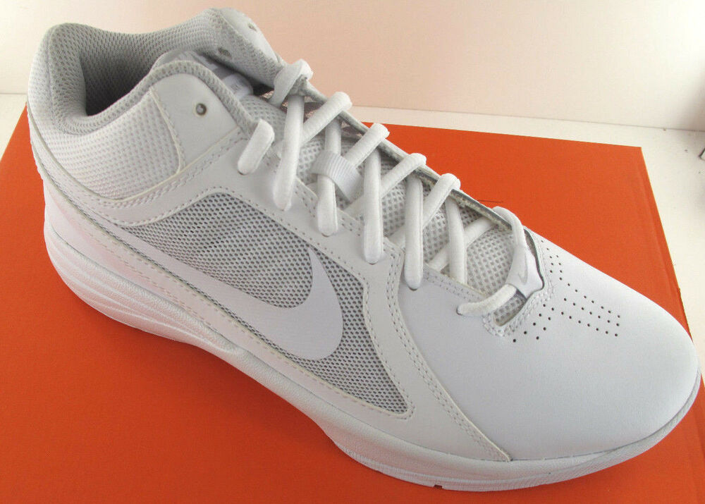 986337cd3ddd Nike The Overplay VIII Mens White Leather Basketball Shoes - NWD - Medium