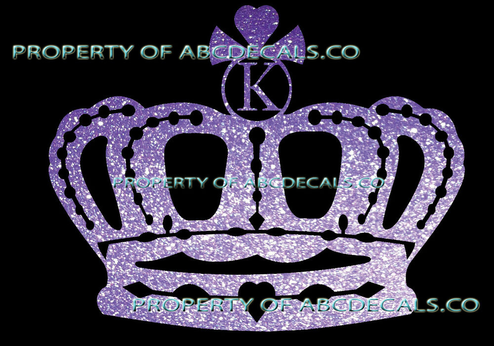 Metal Wall Crown Decor : Vrs crown queen king princess twilight initial k car decal