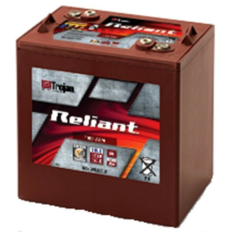 battery trojan t105 agm reliant 6v 217ah deep cycle c max technology each ebay. Black Bedroom Furniture Sets. Home Design Ideas
