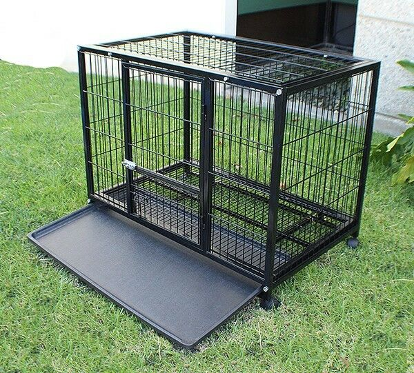 New heavy duty xl metal dog pet cage crate kennel playpen for Xl indoor dog kennel