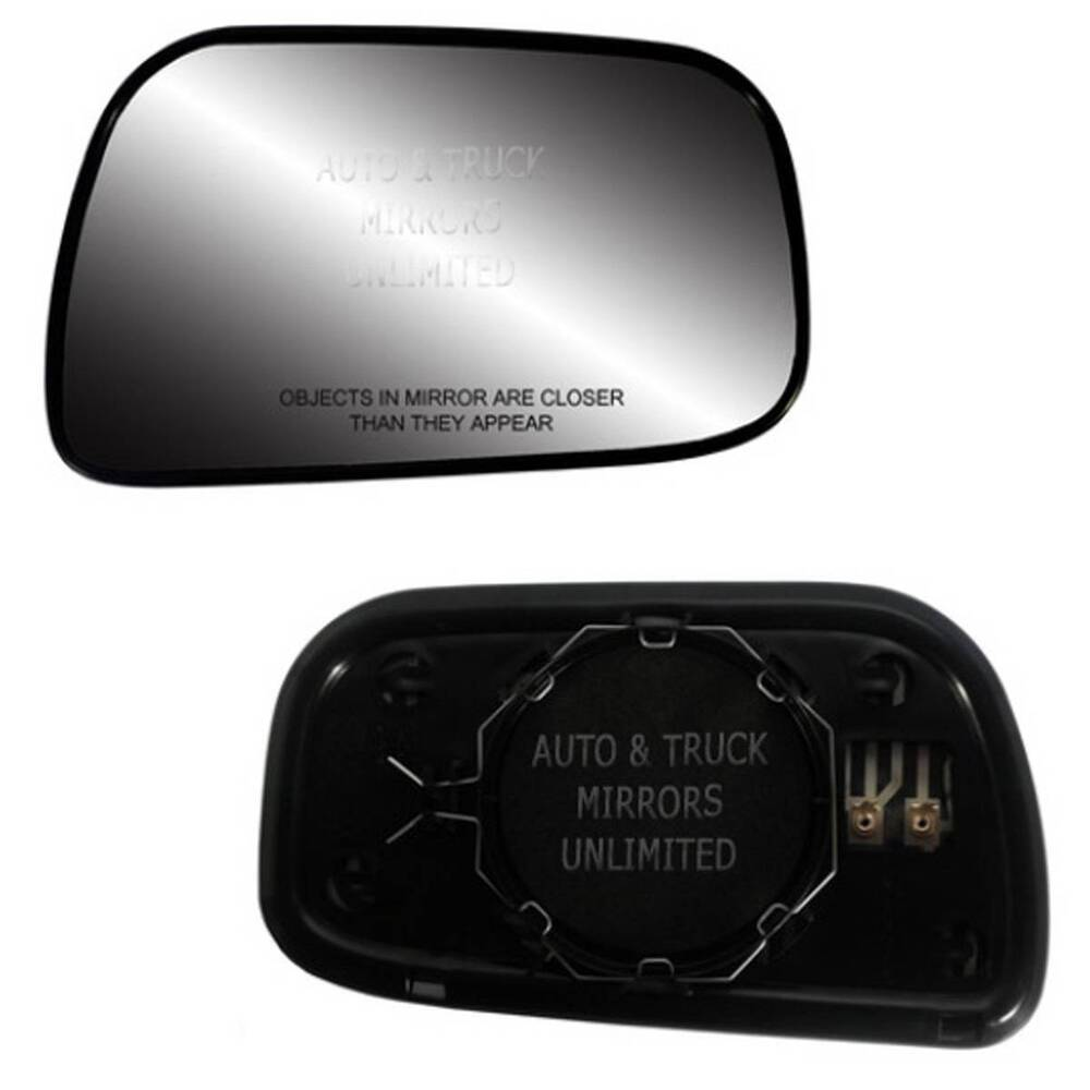 new mirror glass with backing heated 92 01 toyota camry usa passenger side. Black Bedroom Furniture Sets. Home Design Ideas
