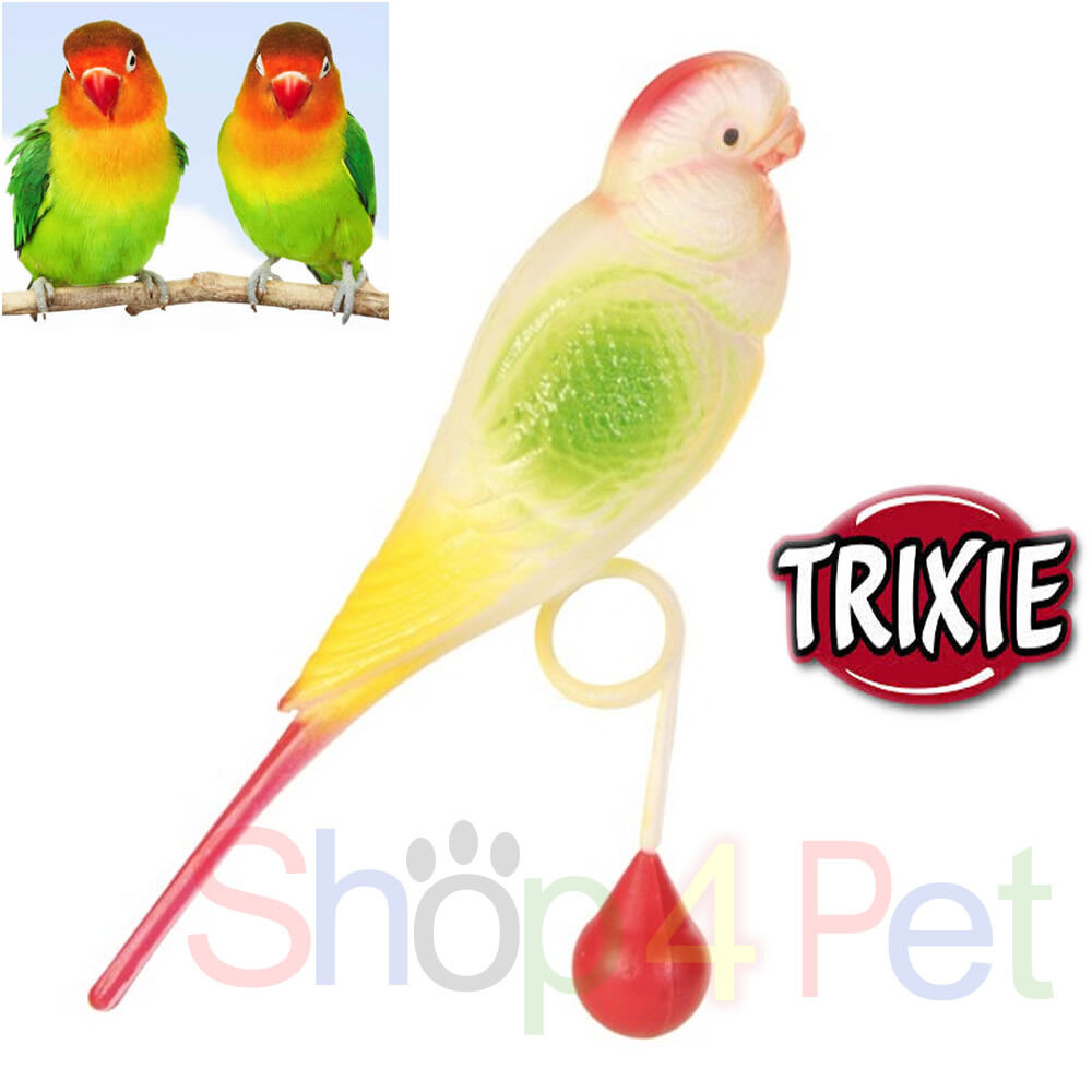 Small Toy Parrots : Trixie small budgie bird toy slides over perch