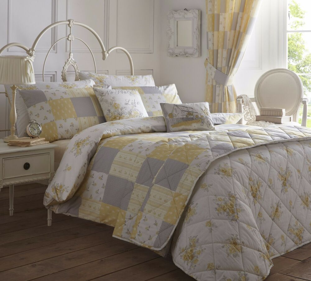 Patsy Patchwork Quilt Duvet Cover Pillowcase Bedding Set