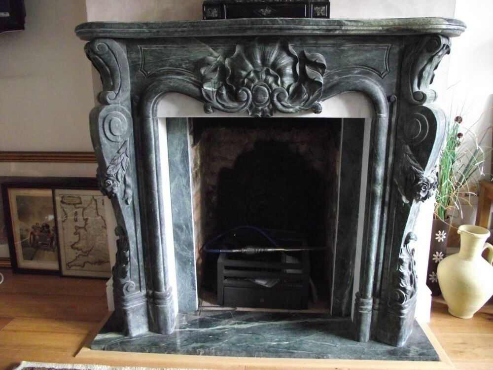 Beautiful Hand Carved Marble Fireplace Mantel Tl016 Ebay