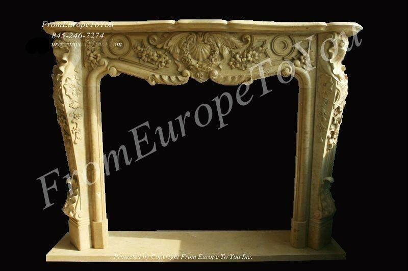 Great Hand Carved Marble French Style Fireplace Mantel Ebay
