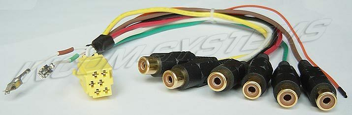 s l1000 original blaupunkt mini iso vorverst�rker adapter 6x cinch sub Basic Electrical Wiring Diagrams at gsmx.co
