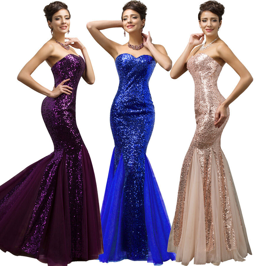 gk plus size sequins ball gown mermaid wedding prom long