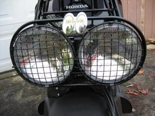 Scooter Headlight Assembly : Set headlight cover wire mesh honda ruckus scooter zoomer