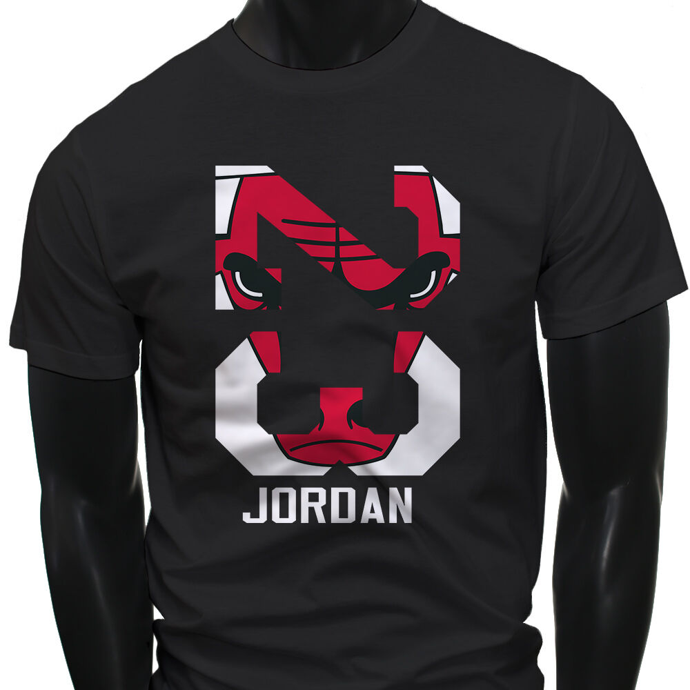 chicago bulls michael air legend 23 jordan mens black t shirt ebay. Black Bedroom Furniture Sets. Home Design Ideas