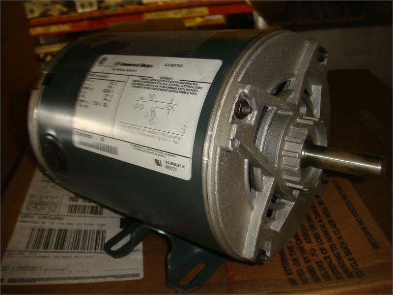 H696 1 2 hp 1800 rpm new ge electric motor ebay for 1 2 hp ac motor