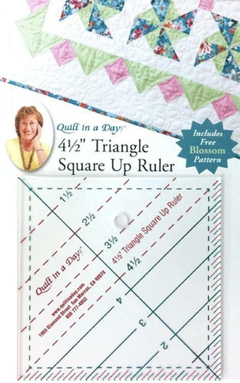4 1 2 Quot Triangle Square Up Ruler Quilt In A Day Includes