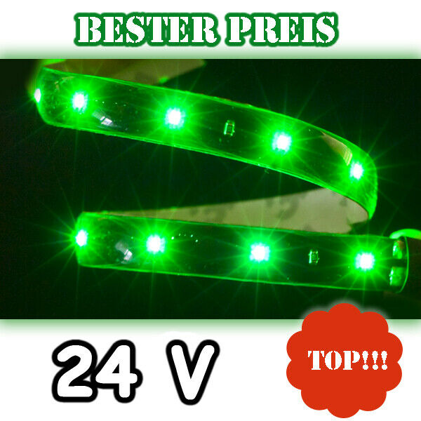 24 volt gr n gr ne smd led streifen leiste strip 24v selbstklebend band plasma ebay. Black Bedroom Furniture Sets. Home Design Ideas