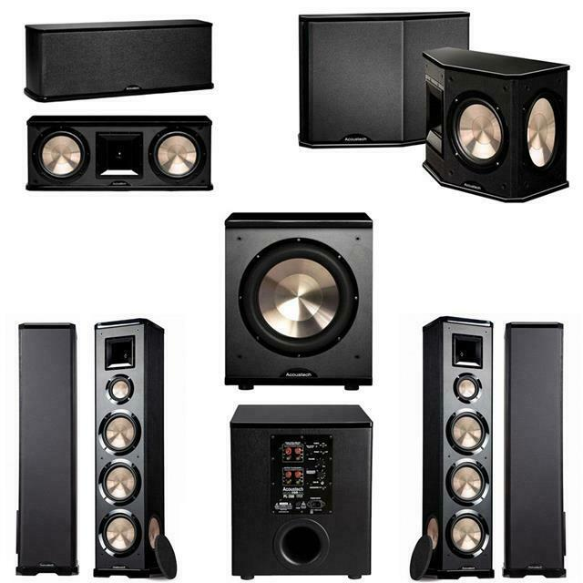 bic acoustech pl 980 5 1 home theater system pl 200 ebay. Black Bedroom Furniture Sets. Home Design Ideas