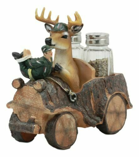 Venison deer hunting on car salt and pepper shaker holder for Home decorations on ebay