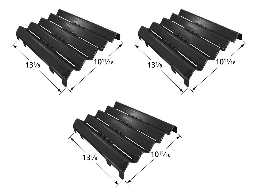 3 kenmore model 141 gas grill heat plate tents porcelain coated bbq parts ebay - Kenmore outdoor gas grill parts ...
