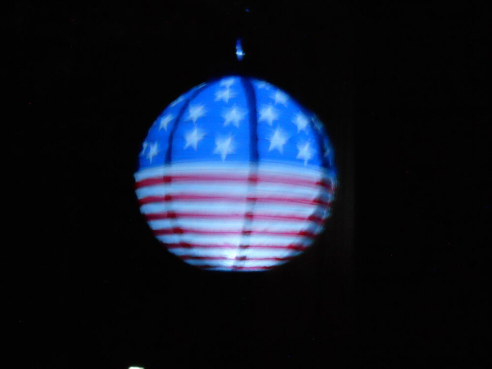 Patriotic String Lights Outdoor : 4TH OF JULY Sets Of PATRIOTIC Round Paper Lanterns Battery Operated LED Lights eBay