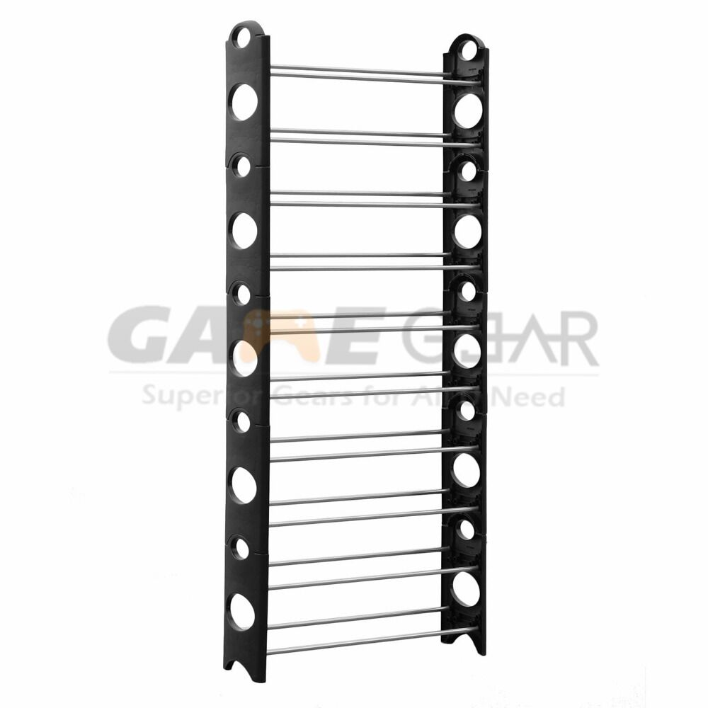 30 pair 10 tier space saving storage organizer free standing shoe tower rack us ebay - Shoe racks for small spaces collection ...