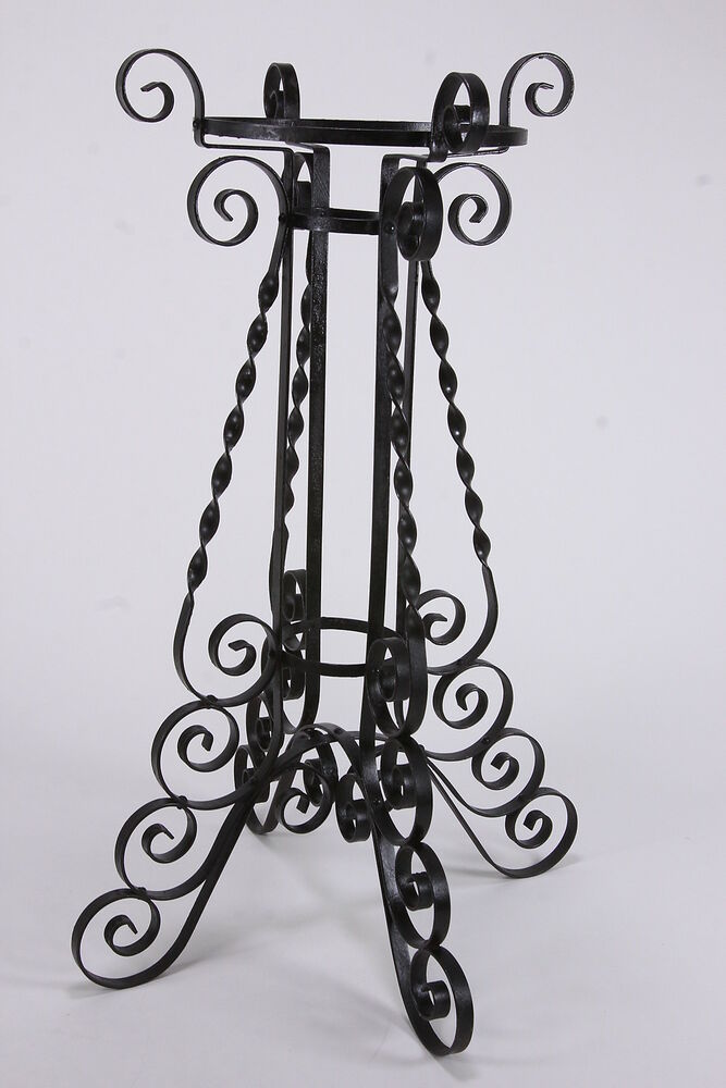 wrought iron plant stands wrought iron plant stand base holder curved design ebay 11028