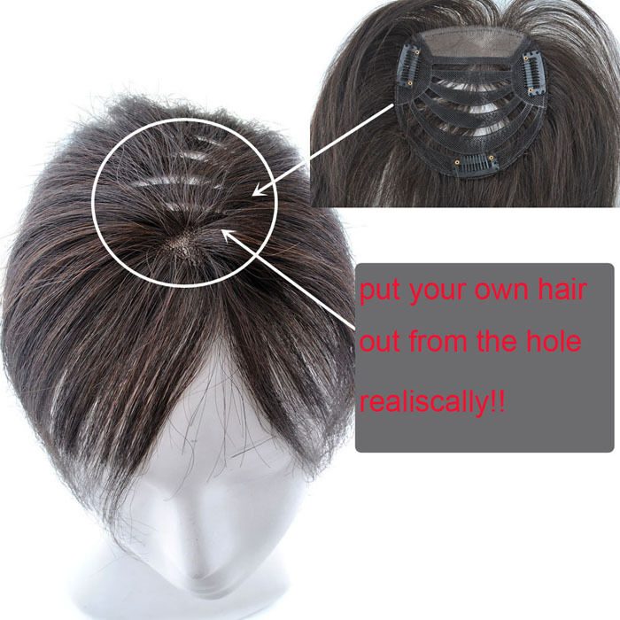 Human Hair Clip In Toppers Human Hair Extensions