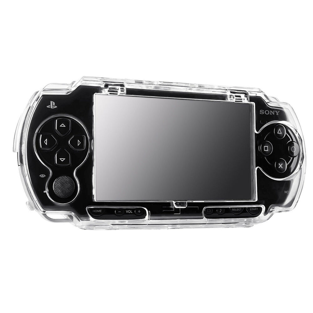 Psp 1000 Psp 2000 : Crystal clear transparent protective hard cover case for