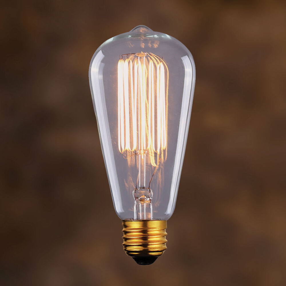 Edison Vintage Light Bulb 60w Filament Retro Industrial Style 110v Usa Fit Ebay