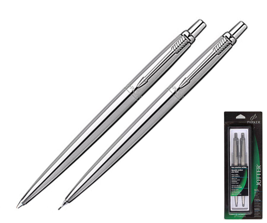 parker jotter pen 0 5 mm pencil set stainless steel ebay. Black Bedroom Furniture Sets. Home Design Ideas