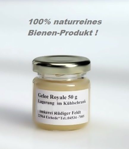 gelee royale bienen k niginnen futter saft 50g gl schen 100 naturrein ebay. Black Bedroom Furniture Sets. Home Design Ideas